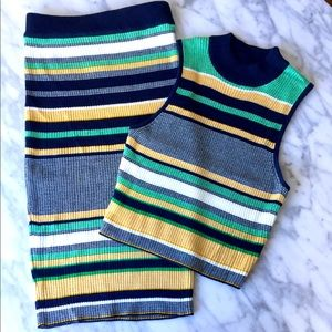 Preppy knit set - skirt and top